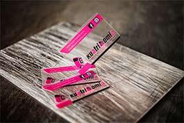 tarjetas plasticas transparentes de fabrica de kuatricomia