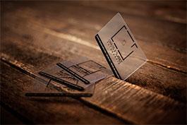 tarjetas plasticas transparentes de empresa fotografia Carlos suarez