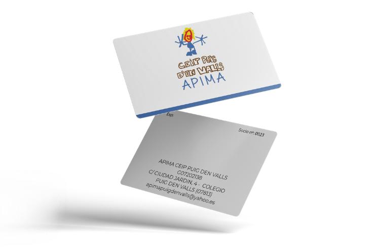 Tarjeta para socios del AMPA del Colegio PUIG DEN VALLS